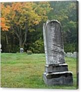 New England Graveyard During The Autumn  Canvas Print