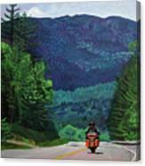 New England Journeys - Motorcycle 2 Canvas Print