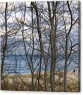 New England Massachusetts Beach  Scene Canvas Print