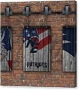 New England Patriots Brick Wall Canvas Print