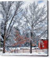 New England Winter Canvas Print