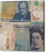 New Five Pound Notes Canvas Print
