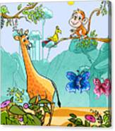New Friends In The Jungle Canvas Print