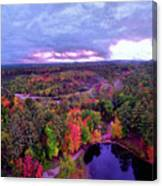 New Hampshire Fall Sunset Over Pond Canvas Print