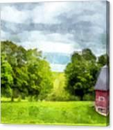 New Hampshire Landscape Red Barn Etna Canvas Print