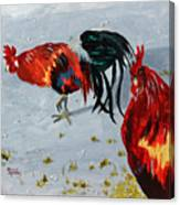 New Harmony Roosters Canvas Print
