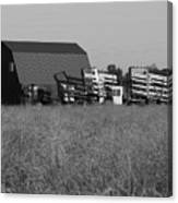 New Holland Bale Wagons Canvas Print