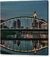 New Main Street Bridge At Dusk - Columbus, Ohio Canvas Print
