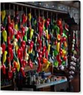 New Mexico Hanging Peppers Canvas Print