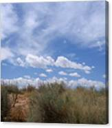 New Mexico Sand Grass Sky Canvas Print