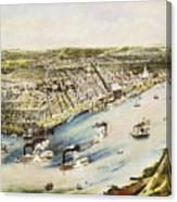 New Orleans, 1851 Canvas Print