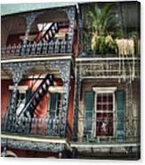 New Orleans Balconies No. 4 Canvas Print