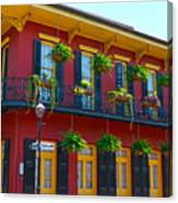 New Orleans Balcony Canvas Print