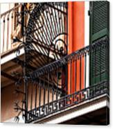 New Orleans Balcony Canvas Print