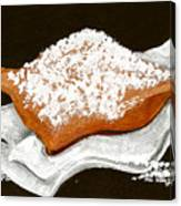 New Orleans Beignet Canvas Print