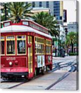 New Orleans Canal Streetcars  Canvas Print