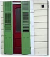 New Orleans Door 11 Canvas Print