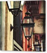 New Orleans Gas Lamps Canvas Print