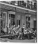 New Orleans Jazz 2 - Bw Canvas Print