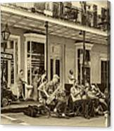 New Orleans Jazz 2 - Sepia Canvas Print