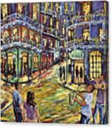 New Orleans Jazz Night By Prankearts Fine Art Canvas Print