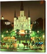 New Orleans Night Photo - Saint Louis Cathedral Canvas Print
