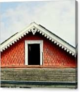 New Orleans Rooftop Architecture Fish Scales And Gingerbread Canvas Print