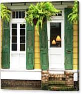 New Orleans Row House Plants Canvas Print