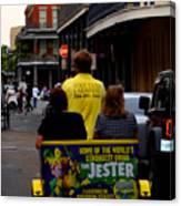 New Orleans Street Bike Taxi Canvas Print