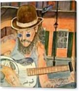 New Orleans Street Musician Canvas Print