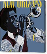 New Orleans, Trumpeter Canvas Print