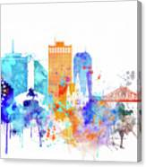 New Orleans Watercolor Skyline Canvas Print