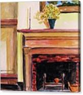 New Painting Over The Mantel Canvas Print