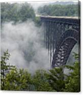 New River Gorge Bridge On A Foggy Day In West Virginia Canvas Print