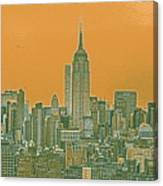 New Tork City Ny Travel Poster 4 Canvas Print