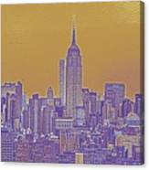New Tork City Ny Travel Poster 5 Canvas Print