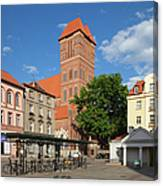 New Town Square In Torun Canvas Print