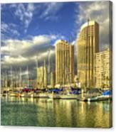 Ala Wai Harbor Waikiki Yacht Club Honolulu Hawaii Collection Art Canvas Print