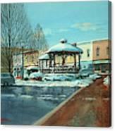 Triangle Park In Winter Canvas Print