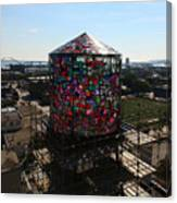 Stained Glass Water Tower In Milwaukee Canvas Print