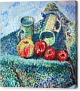 New Work Painted In Pointillism  Canvas Print