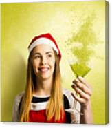 New Year Christmas Party Canvas Print