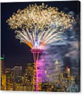 New Year Fireworks - Seattle Canvas Print