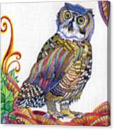 New-year Owl Canvas Print