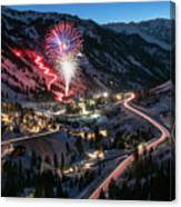New Year's Eve At Snowbird Canvas Print