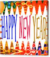 New Year's Greetings Canvas Print