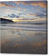 New Year's Morning On Sand Beach Canvas Print