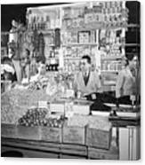 New York - Italian Grocer In The First Canvas Print