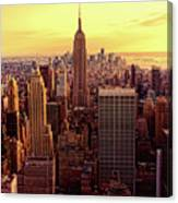 New York - Magic Hour At Top Of Rock Canvas Print