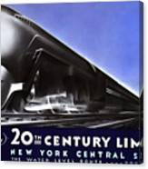 New York 20th Century Limited Train  1938 Canvas Print